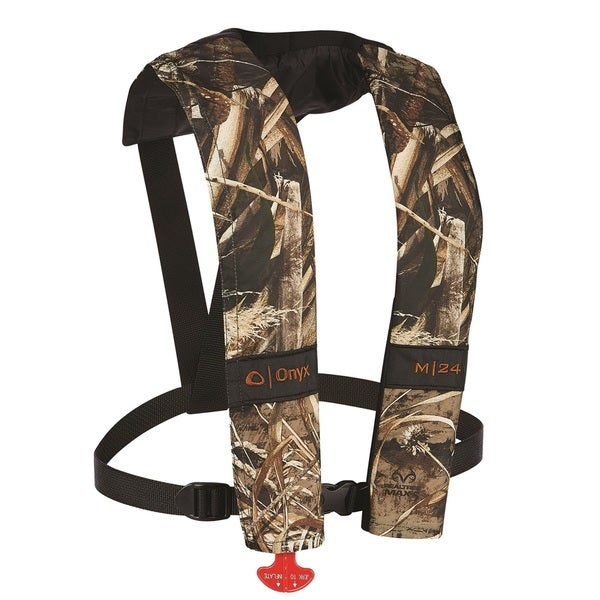 Onyx Outdoor M-24 Realtree Max Multicolored Polyester Inflatable Life Jacket