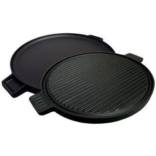 King Kooker 14-inch Pre-seasoned 2-sided Cast Iron Round Griddle