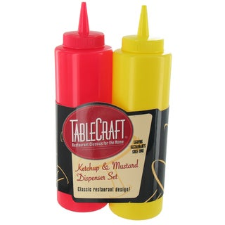 TCP Tablecraft 112KM 12 Oz Ketchup & Mustard Bottle Set 2-count