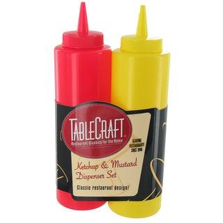 TCP Tablecraft 112KM 12 Oz Ketchup & Mustard Bottle Set 2-count