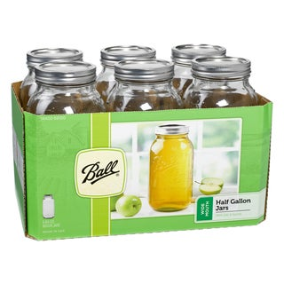Ball 68100 Half Gallon Wide Mouth Canning Jars 6-count