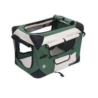 Pawhut 32-inch Soft-sided Folding Crate Pet Carrier