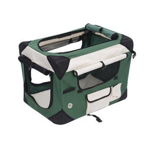 Pawhut 32-inch Soft-sided Folding Crate Pet Carrier|https://ak1.ostkcdn.com/images/products/12557929/P19358341.jpg?impolicy=medium