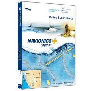Navionics Western Region Preloaded Nautical Chart
