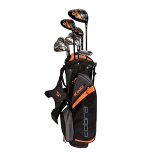 Cobra King Junior Black/Orange Metal 11-piece Teen Golf Set