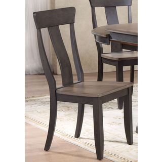 iconic Furniture Rubberwood Panel-back Dining Chairs (Set of 2)