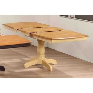 Iconic Furniture Honey-colored Rubberwood Boat-shaped Table