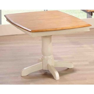 Iconic Furniture Caramel Biscotti Rubberwood 36-inch x 48-inch x 60-inch Boat-shaped Single-pedestal Table