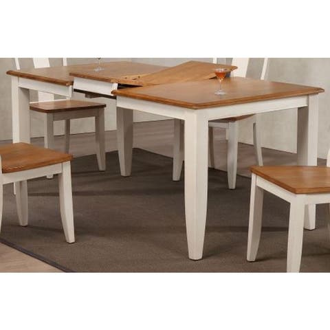 Iconic Furniture Company Antique Biscotti/Caramel Wooden 36 x 52 x 67-inch Contemporary Leg Dining Table - Multi