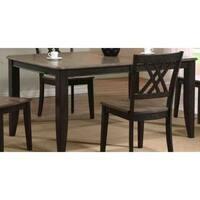 Iconic Furniture Company 2-tone Antique Grey Stone/Black Stone Rubberwood 36- x 52- x 67-inch Contemporary Leg Dining Table