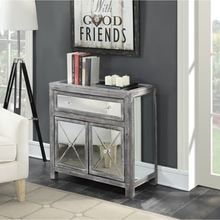 Silver Orchid Talmadge Mirrored Cabinet