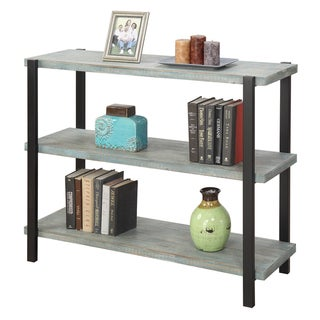 Convenience Concepts Wyoming Blue/Red/Brown Wooden 3-tier Console Bookcase