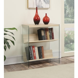 Convenience Concepts Soho Glass/Wood Bookcase