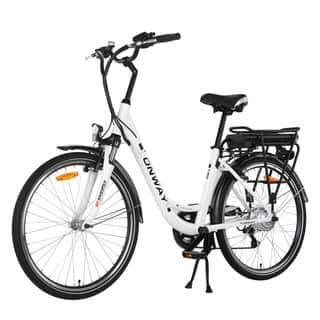Onway Woman City Aluminum 26-inch 6-speed Electric Bicycle|https://ak1.ostkcdn.com/images/products/12558010/P19358412.jpg?impolicy=medium