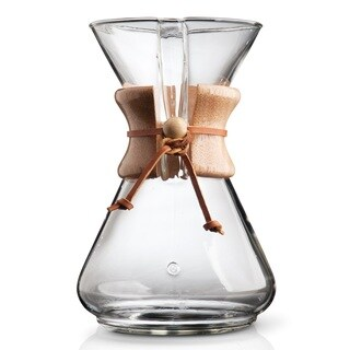 Chemex Classic Clear Glass 10-cup Coffeemaker