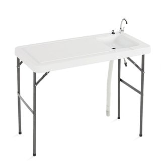 Excalibur Multi-use Fish and Game Folding Table with Faucet and Sink