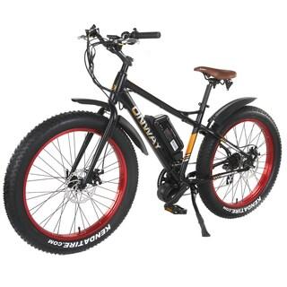 Onway 26-inch 750-watt 7-speed Fat Tire Sand & Beach Electric Bike