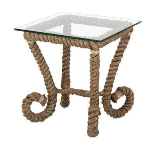 Tranquil Jute Accent Table