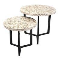 Surya Shell Tables (Set of 2)