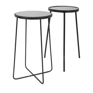 Berke Iron and Marble Tables (Set of 2)