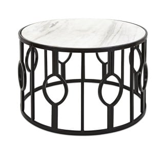 Berton Iron and Marble Coffee Table