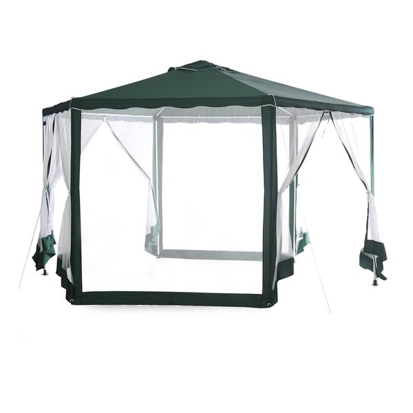Abba Patio 6.6-foot Diameter Hexagon Outdoor Canopy Shelter With Mosquito Net