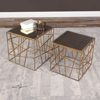 Karkin Gold Accent Tables (Set of 2)