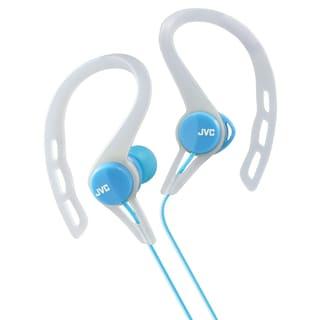 Link to JVC HA-ECX20A Blue & White Sports Inner Earbud Clip Headphones Similar Items in Headphones