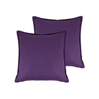 Sherry Kline Lombard Linen Reversible 20-inch Decorative Throw Pillow (set of 2) (Option: Purple)