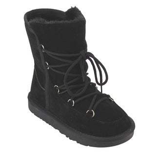 Betani FE28 Girls'/Kids' Lace-up Ankle-high Thick Winter Snow Boots