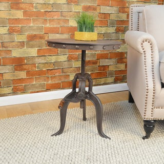 Eshan Cast iron/Metal Adjustable Crank Accent Table