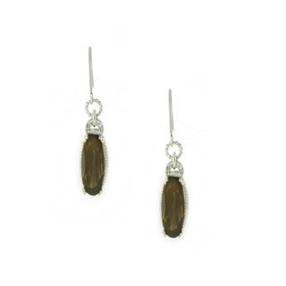 One-of-a-kind Michael Valitutti 10k Smoky Quartz Dangling Earrings
