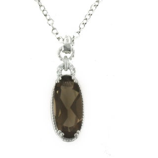 One-of-a-kind Michael Valitutti 10k Smoky Quartz Pendant