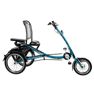 PFIFF Scooter Trike L Electric Adult Tricycle, 16 and 20 inch wheels, Asmann motor, Blue