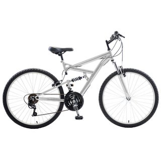 Cycle Force Dual Suspension 26-inch Wheels 18-inch Frame Men's Mountain Bike (Option: Silver)