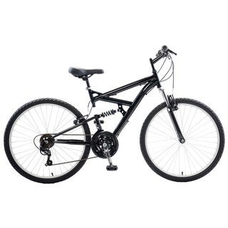Cycle Force Dual Suspension 26-inch Wheels 18-inch Frame Men's Mountain Bike (Option: White)