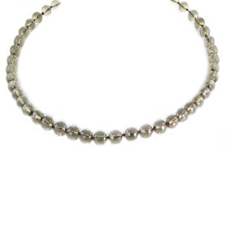One-of-a-kind Michael Valitutti Smoky Quartz Beaded Necklace