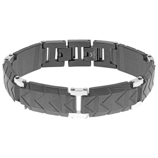 Stainless Steel and Carbon Fiber Bracelet