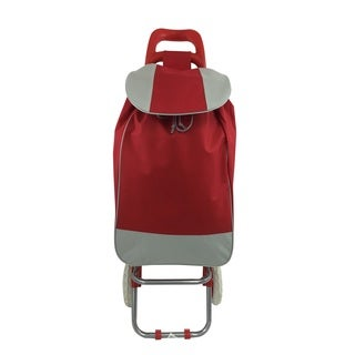 Wee Beyond Red Fabric/Plastic Folding Shopping Cart