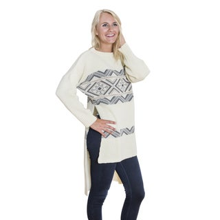 Muk Luks Women's High-low Tunic Sweater