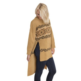 Muk Luks Women's Brown Tunic Sweater