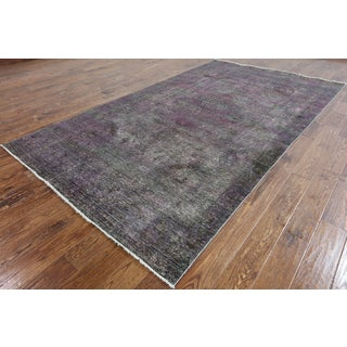 Oriental Grey Wool Overdyed Hand-Knotted Rug (5'9 X 10'3)