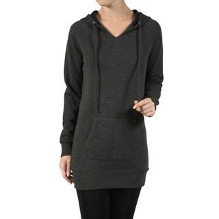 JED Women's Longline Fleece Hoodie Sweater Tunic