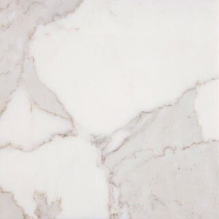 Italian Calacatta White Carrara Marble 12-inch x 24-inch x 3/8-inch Honed and Beveled Standard Tiles