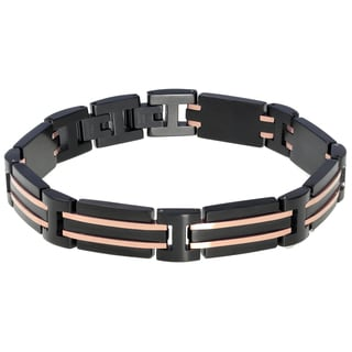 Stainless Steel Blackplated Men's Link Bracelet