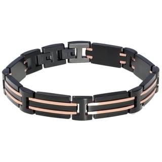 Stainless Steel Blackplated Men's Link Bracelet