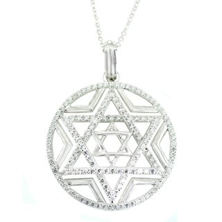 One-of-a-kind Michael Valitutti Star of David Cubic Zirconia Pendant