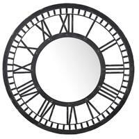 Black 43-inch Diameter Round Wall Mirror