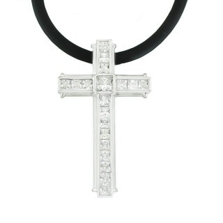 One-of-a-kind Michael Valitutti Men's Cubic Zirconia Cross Pendant