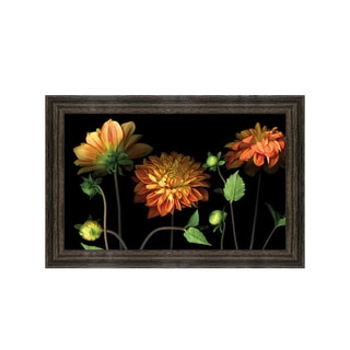 Pip Bloomfield-Orange Dahlia Garden Framed Art